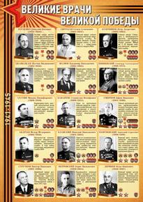 Стенд «Великие Врачи Великой Победы»