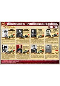 Стенд «Советские танкисты - герои ВОВ»