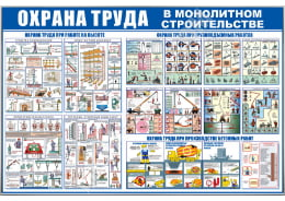 Стенд «Охрана труда в монолитном строительстве»
