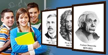 Серия портретов для кабинета Физики