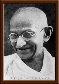 Портрет Махатма Ганди