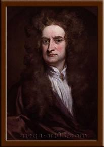 Портрет Ньютон Исаак