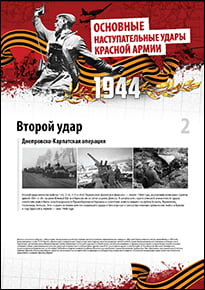 Poster «Dnieper-Carpathian operation»