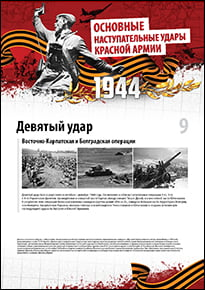 Poster «East Carpathian and Belgrade operations»
