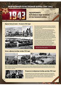 Постер «1943 год. Год коренного перелома в ходе ВОВ»