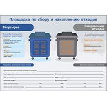 Наклейка «Площадка по сбору и накоплению отходов»