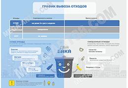 Табличка «График вывоза отходов»