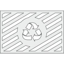 Трафарет для окраски площадок по сбору ТКО «Знак вторичной переработки»