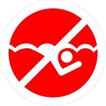 Знак «Плавание запрещено»