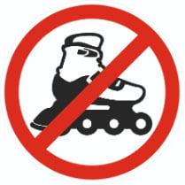 Знак «Запрещается вход на роликовых коньках»