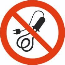 Знак «Запрещается пользоваться электронагревательными приборами»
