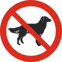 Знак «Запрещается вход с животными»