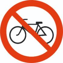 Знак «Вход с велосипедом запрещен»
