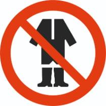 Знак «Вход в одежде запрещен»