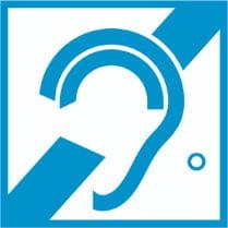 Знак «Доступность для инвалидов по слуху»