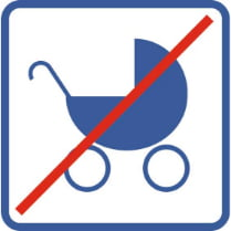 Знак «Запрещена коляска»