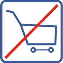 Знак «Запрещены корзины»