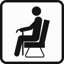 Знак «Места для пожилых»