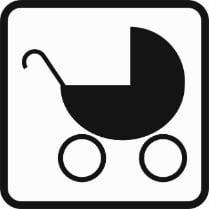 Знак «Место для коляски»