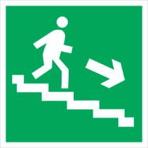 Знак «Вниз по лестнице (правосторонний)»