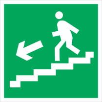 Знак «Вниз по лестнице (левосторонний)»