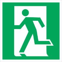 Знак «Выход здесь (левосторонний)»