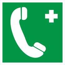 Знак «Телефон связи с медицинским центром»