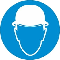 Знак «Работать в каске»