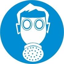 Знак «Работать в средствах защиты дыхания»