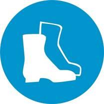 Знак «Работать в защитной обуви»