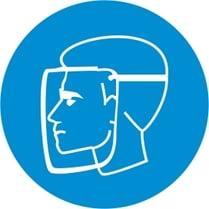 Знак «Работать в защитной маске»