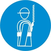Знак «Работать со страховочным поясом»