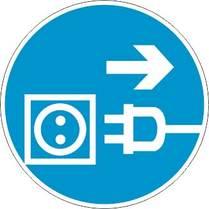Знак «Отключить вилку»