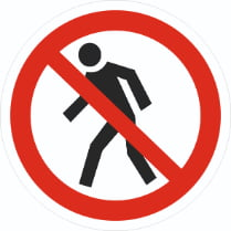 Знак «Проход запрещен»