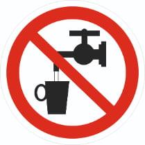 Знак «Запрещается использовать в качестве питьевой воды»