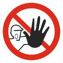 Знак «Доступ посторонним запрещен»