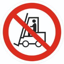 Знак «Запрещается движение средств напольного транспорта»