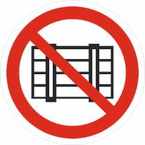 Знак «Запрещается загромождать проходы»