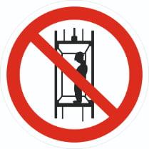Знак «Запрещается подъем (спуск) людей по шахтному стволу»