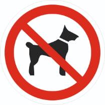 Знак «Запрещается вход (проход) с животными»