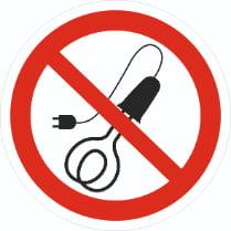 Знак «Запрещается присутствие людей, имеющих металлические имплантанты»