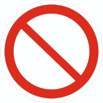 Знак «Запрещение (прочие опасности или опасные действия)»