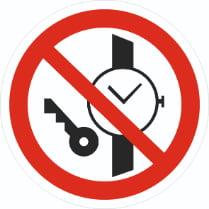 Знак «Запрещается иметь при (на) себе металлические предметы»