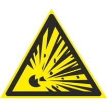 Знак «Взрывоопасно»