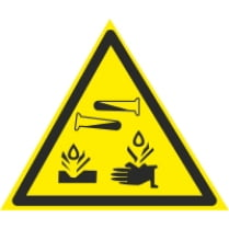 Знак «Едкие коррозионные вещества»