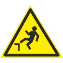 Знак «Возможность падения с высоты»
