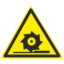 Знак «Осторожно режущий диск»