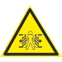 Знак «Опасность зажима»
