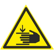 Знак «Возможна травма рук»