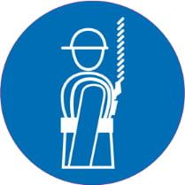 Знак «Работать в защитных перчатках»